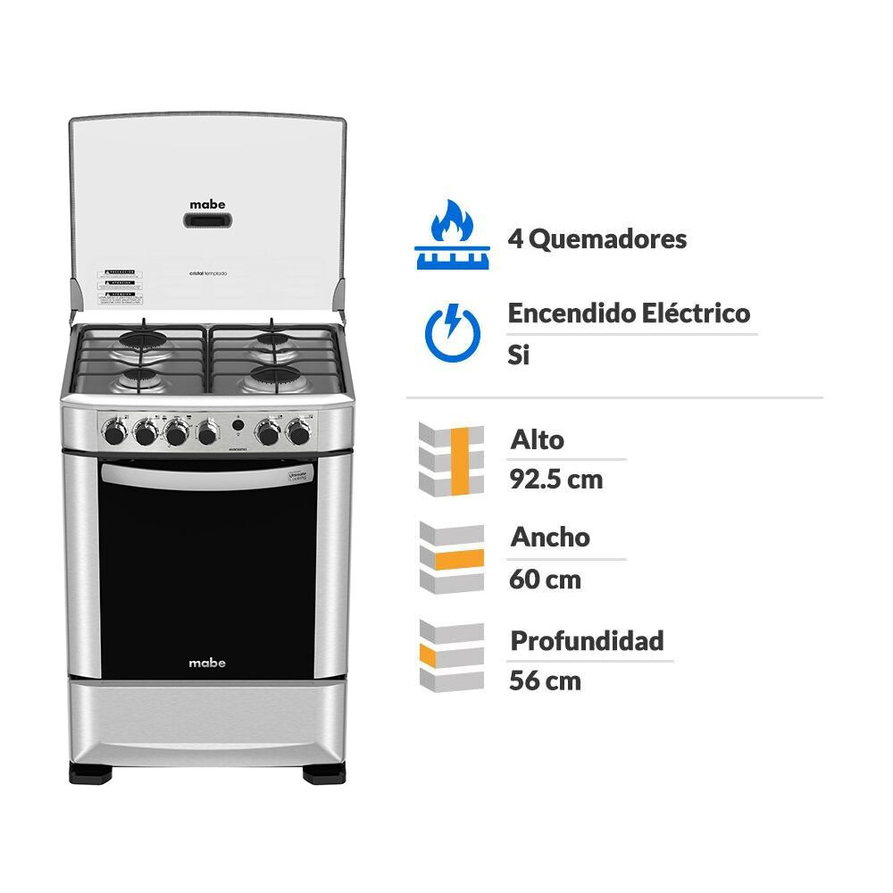 Cocina Mabe Andes60Tx3 / 4 Quemadores image number 1.0