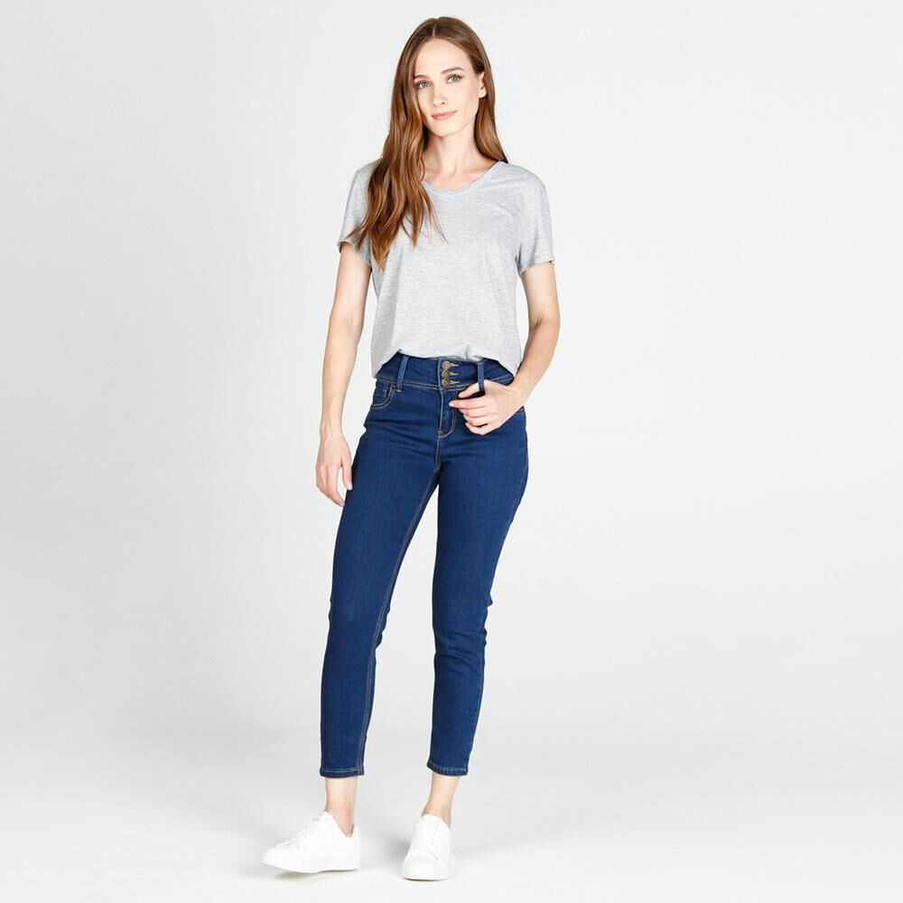 Jeans Mujer Tiro Alto Skinny Push up Geeps image number 1.0