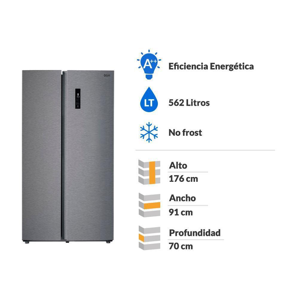 Refrigerador Side By Side BGH BRSS630 / No Frost / 562 Litros image number 1.0