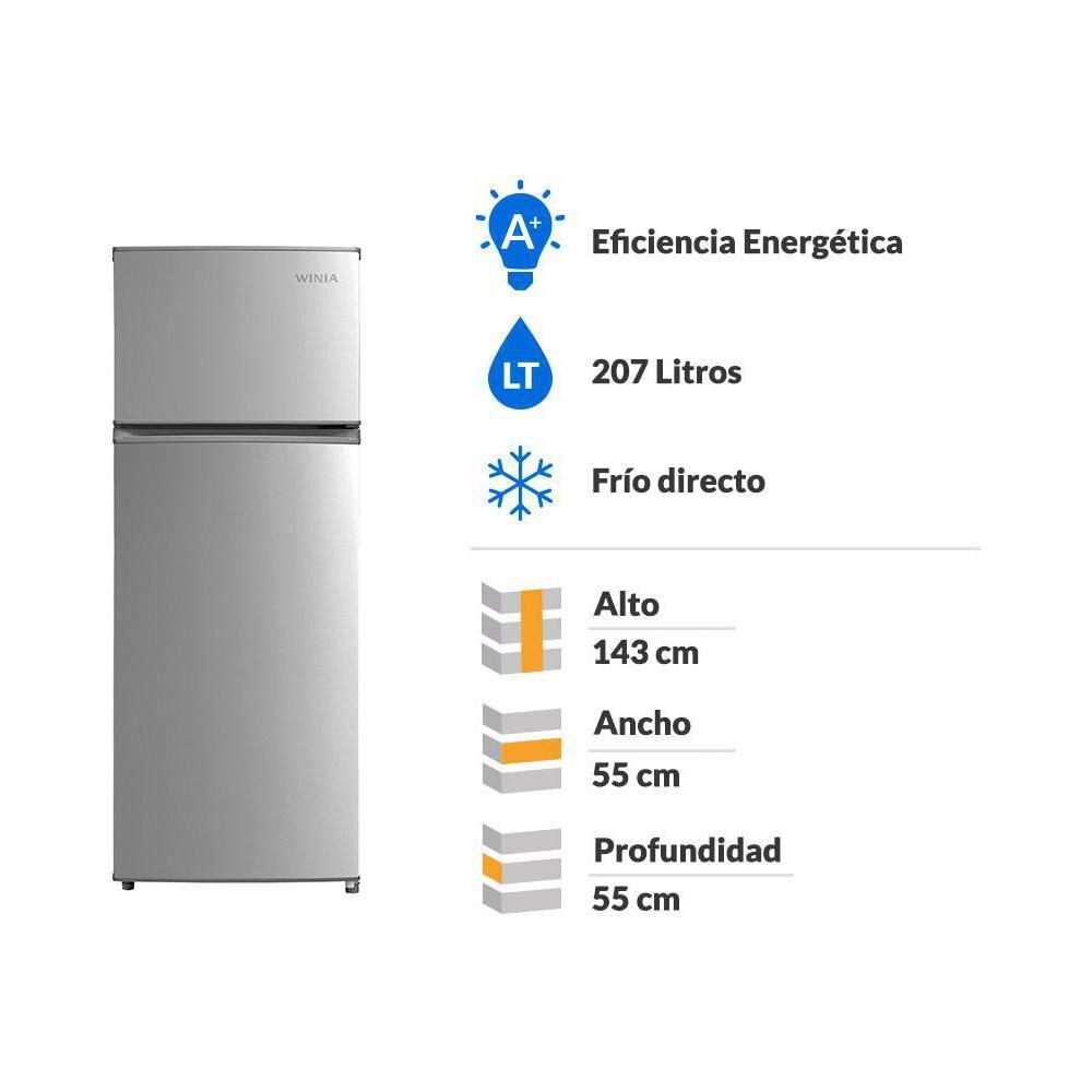 Refrigerador Winia FD240S / Frío Directo / 207 Litros image number 1.0