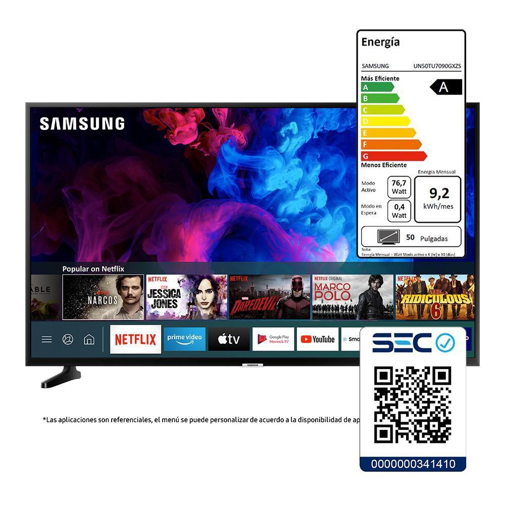 """Led Samsung TU7090 / 50"""" / Crystal UHD / Smart Tv image number 7.0"""