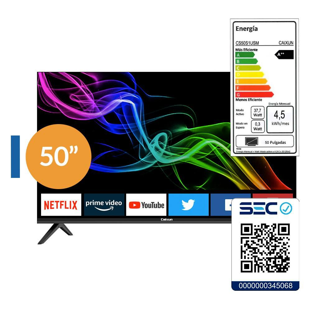 "Led Caixun Cs50s1usm / 50"" / Ultra Hd / 4k / Smart Tv image number 7.0"