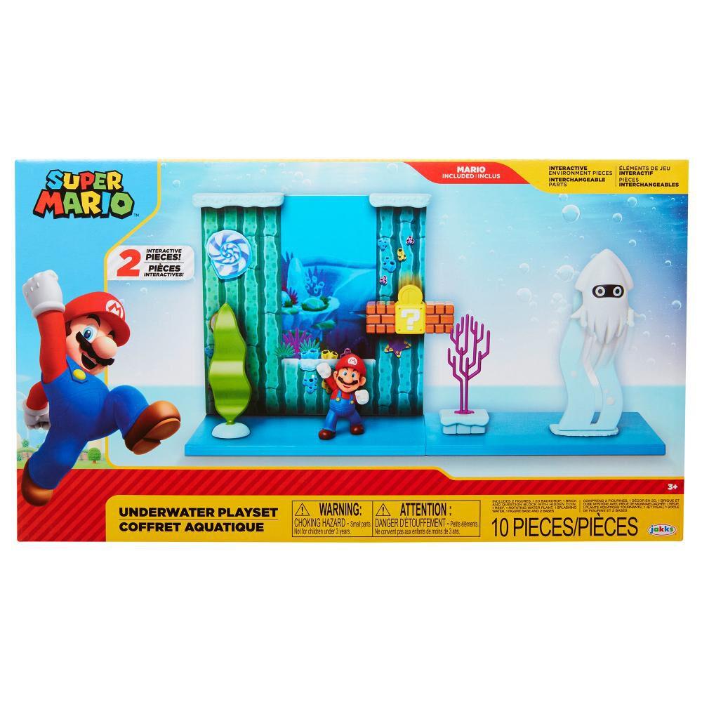 Figura De Accion Nintendo Set Escena Batalla Bajo El Agua Super Mario image number 0.0
