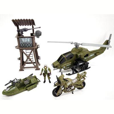 Set De Juguetes Hitoys Set Militar - Helicóptero