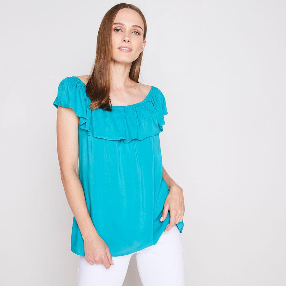 Blusa Con Vuelos Mujer Geeps image number 0.0