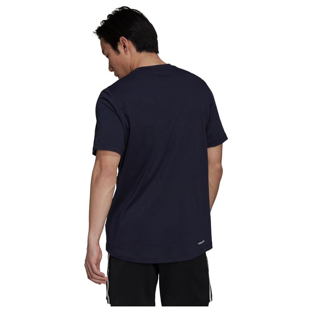 Polera Hombre Adidas D2m Feelready Logo image number 2.0