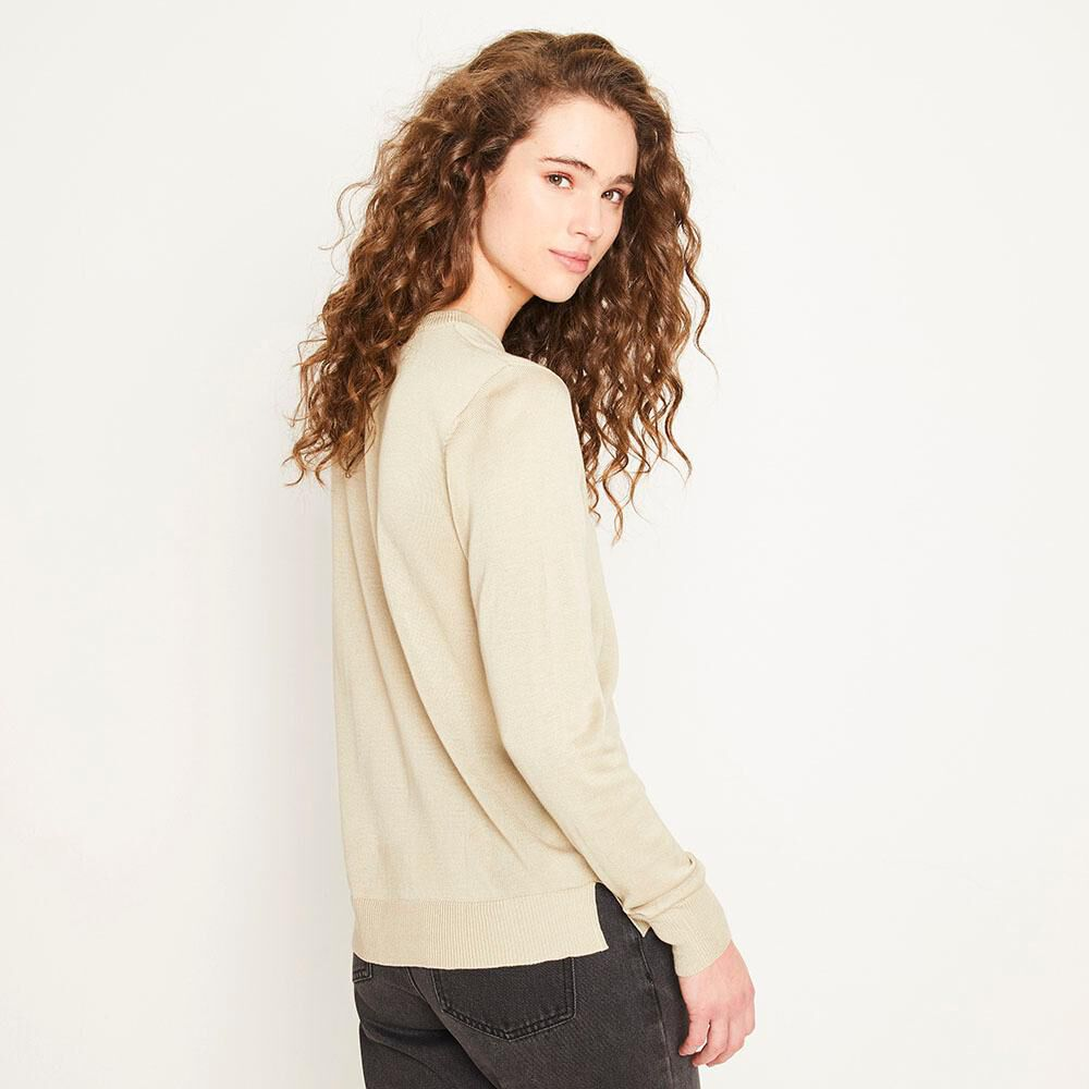 Sweater Texto Regular Fit Cuello Redondo Mujer Freedom image number 2.0