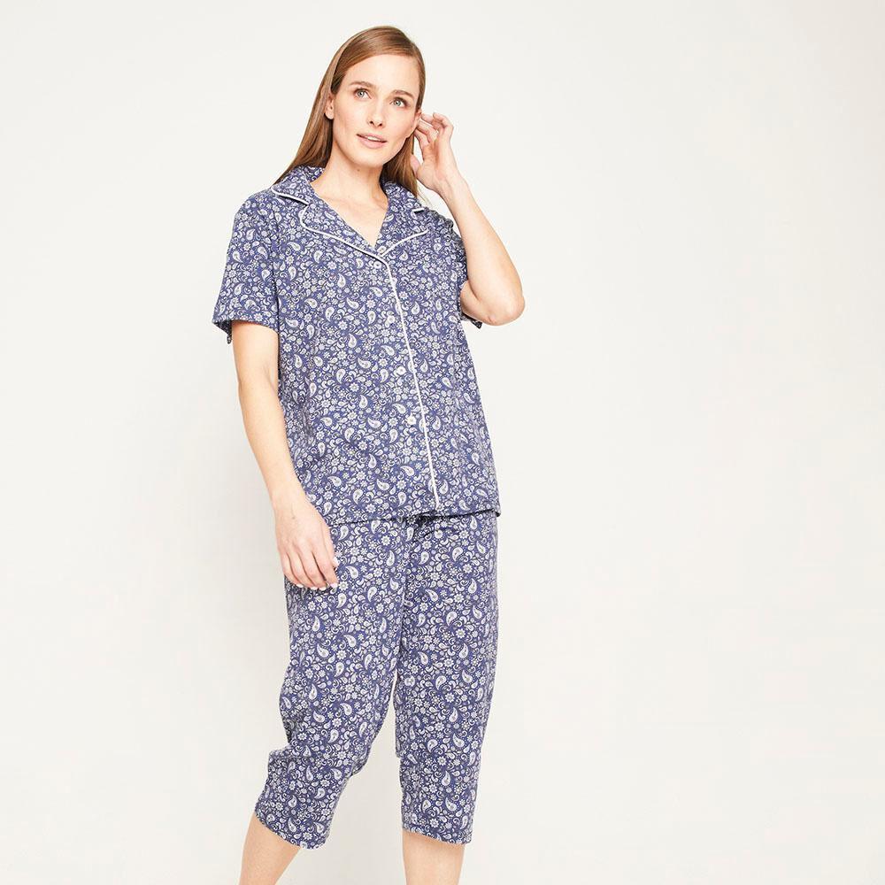 Pijama Capri Manga Corta Mujer Lesage image number 5.0