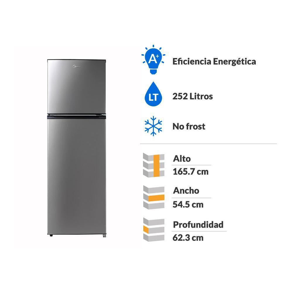 Refrigerador Top Freezer  Midea MRFS-2700G333FW / No Frost / 252 Litros image number 1.0