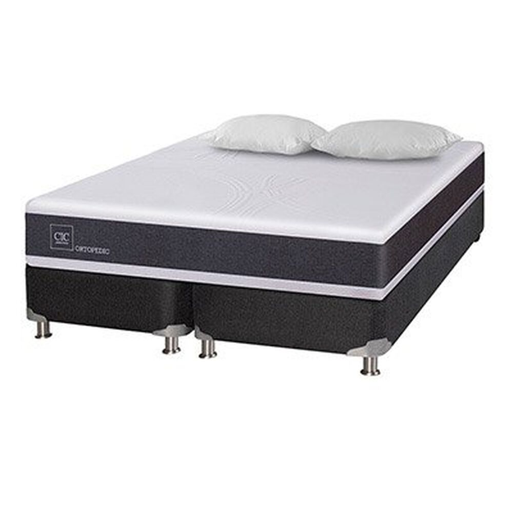 Box Spring Cic New Ortopedic B5 / 2 Plazas / Base Dividida + 2 Almohadas Viscoelásticas image number 4.0