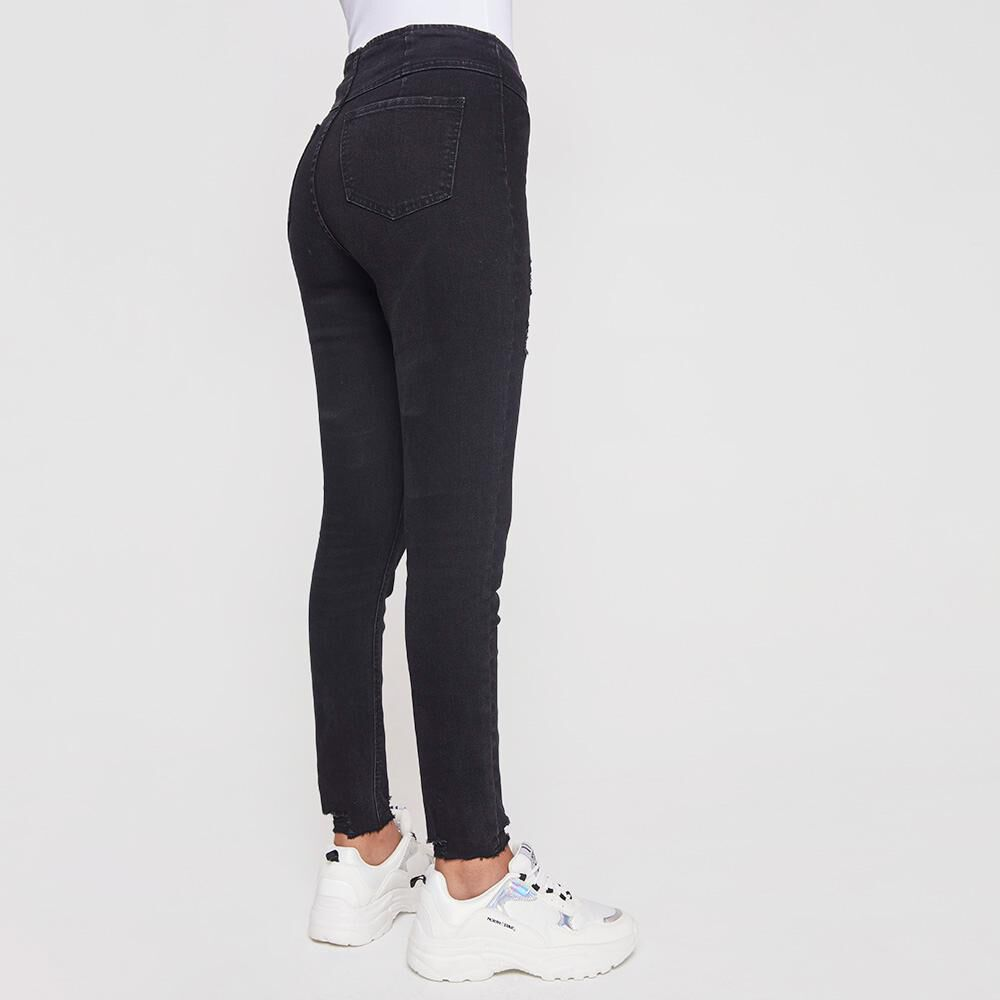 Jeans Mujer Tiro Alto Super Skinny Rolly Go image number 2.0