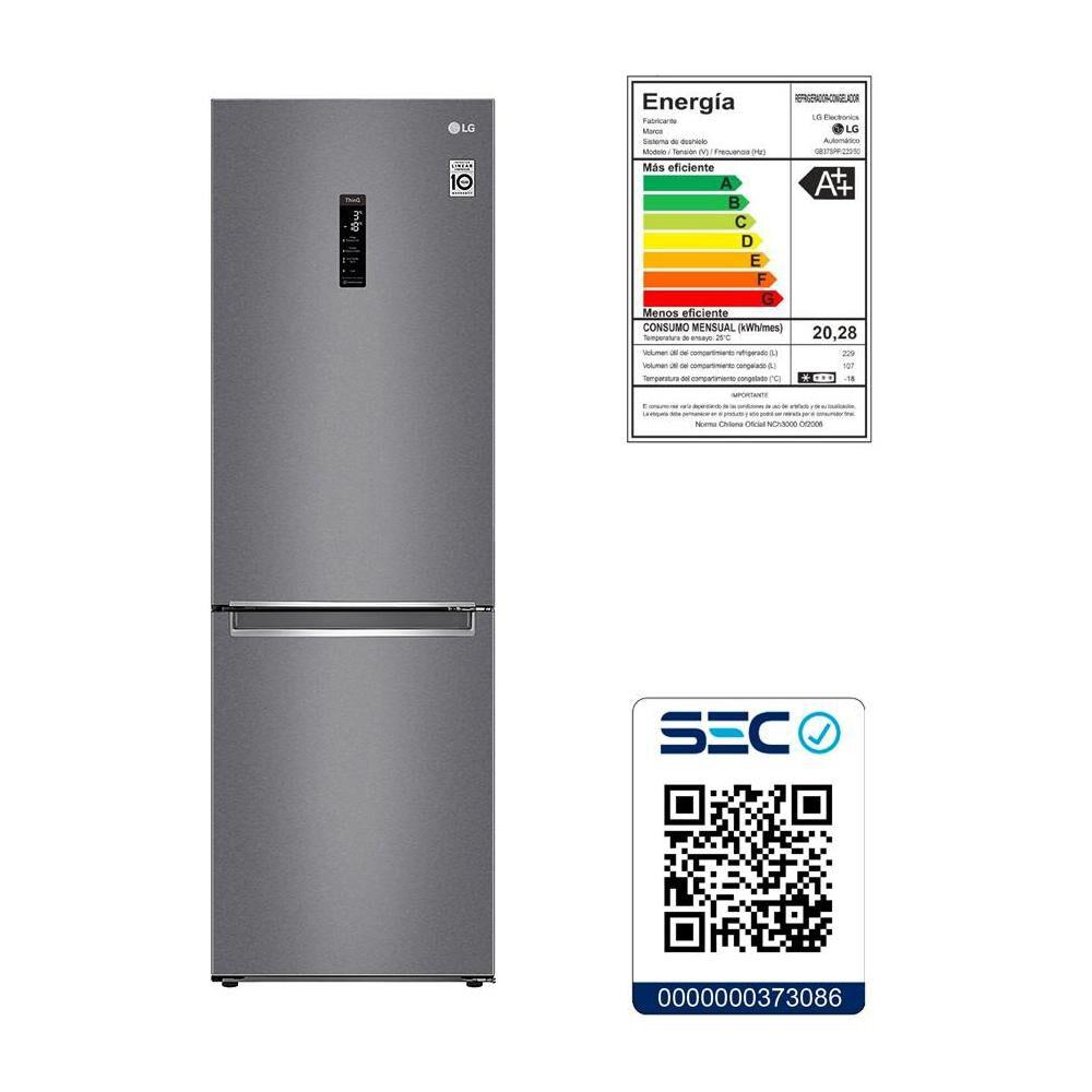 Refrigerador Bottom Freezer LG GB37MPD / No Frost / 341 Litros image number 4.0