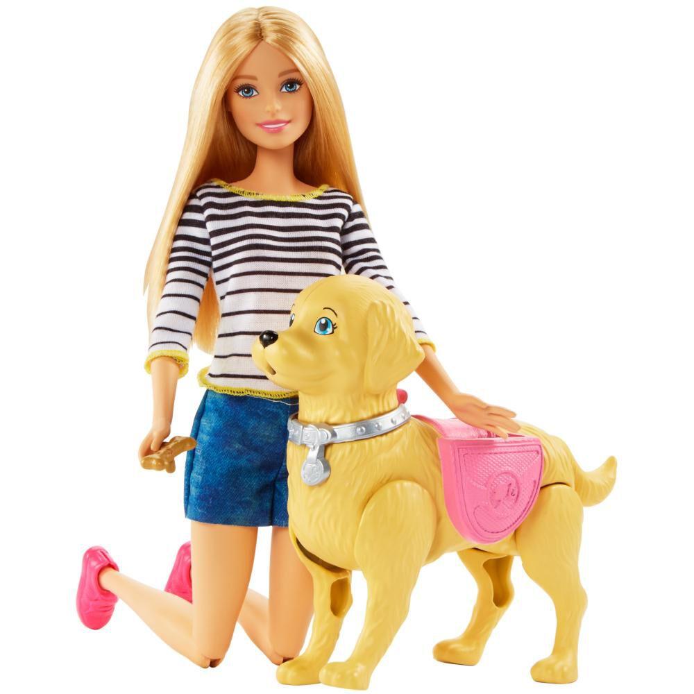 Muñeca Barbie Paseo De Perrito image number 1.0
