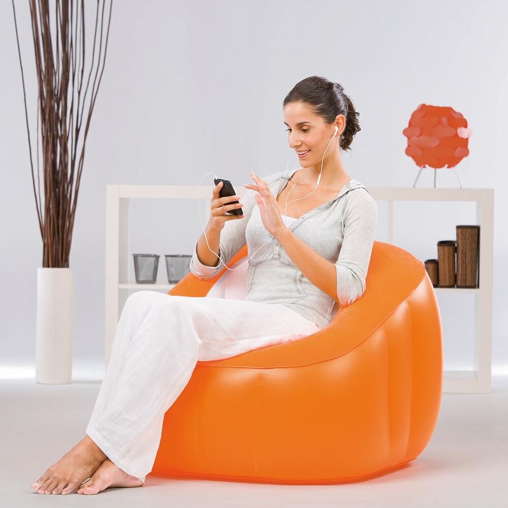 Sillón Inflable Bestway Comfi Cube Naranjo image number 1.0