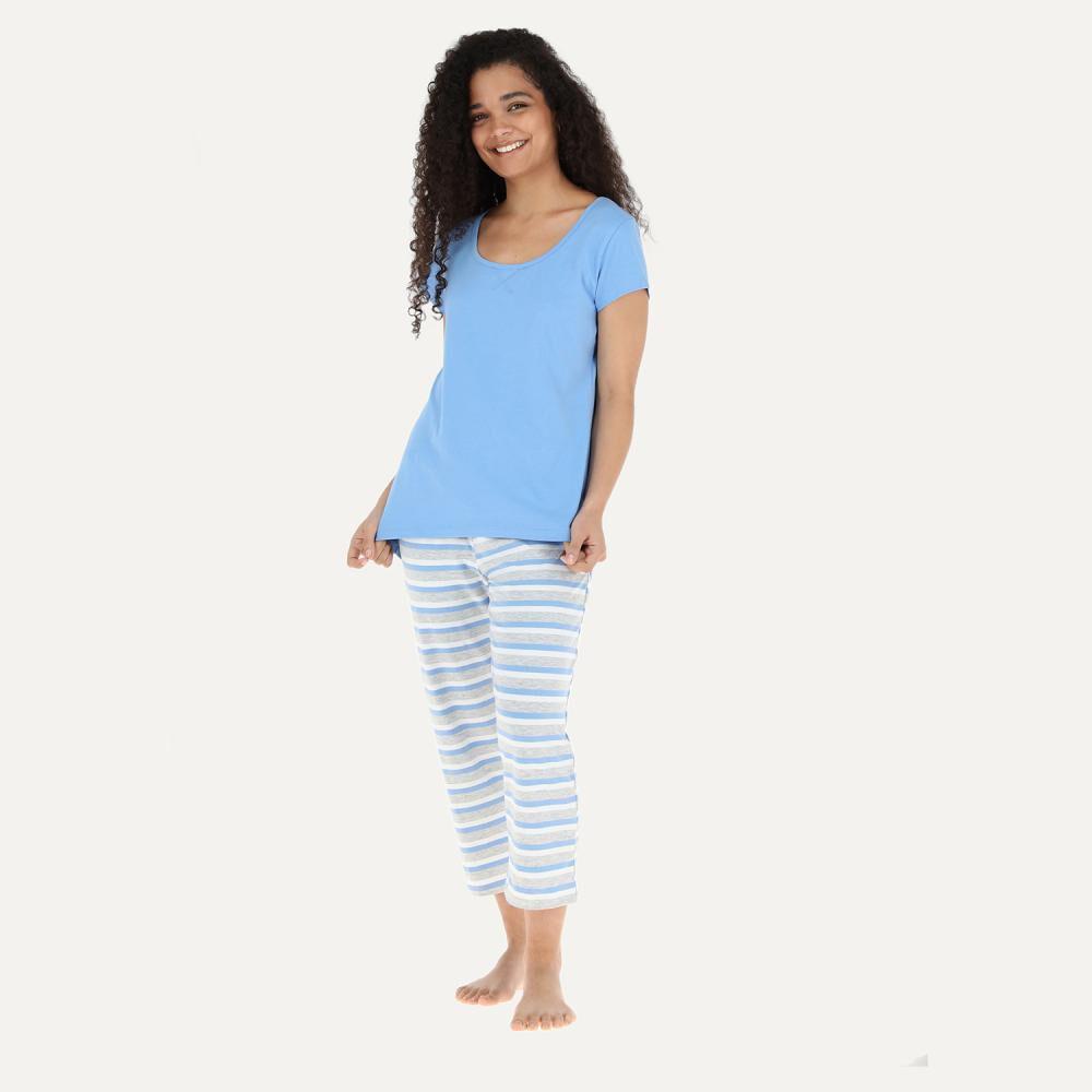 Pijama Mujer Flores / 2 Piezas image number 0.0