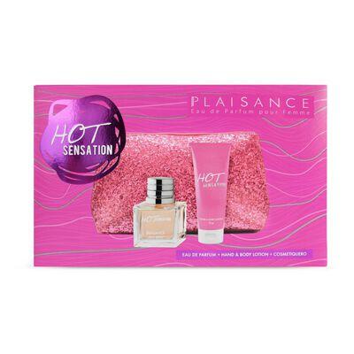 Cosmetiquero + Edp Hot Sensation 80 Ml + Crema Plaisance