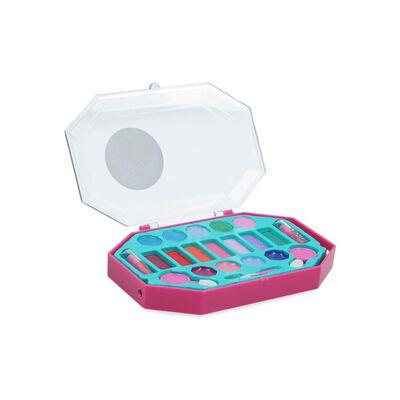 Set De Maquillaje Infantil Barbie Cosmetiquero Octagonal