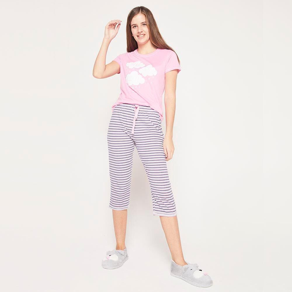 Polera Pijama Algodón Mujer Freedom image number 4.0