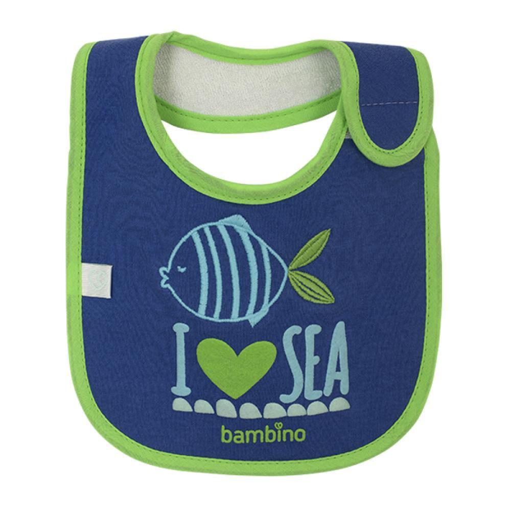 Babero Toalla Impermeable Pez I Love Sea Bambino  image number 0.0
