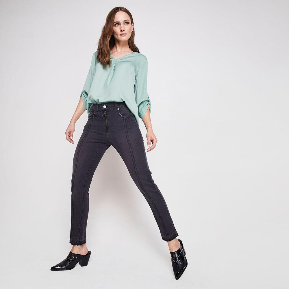 Jeans Crop Mujer Kimera image number 1.0