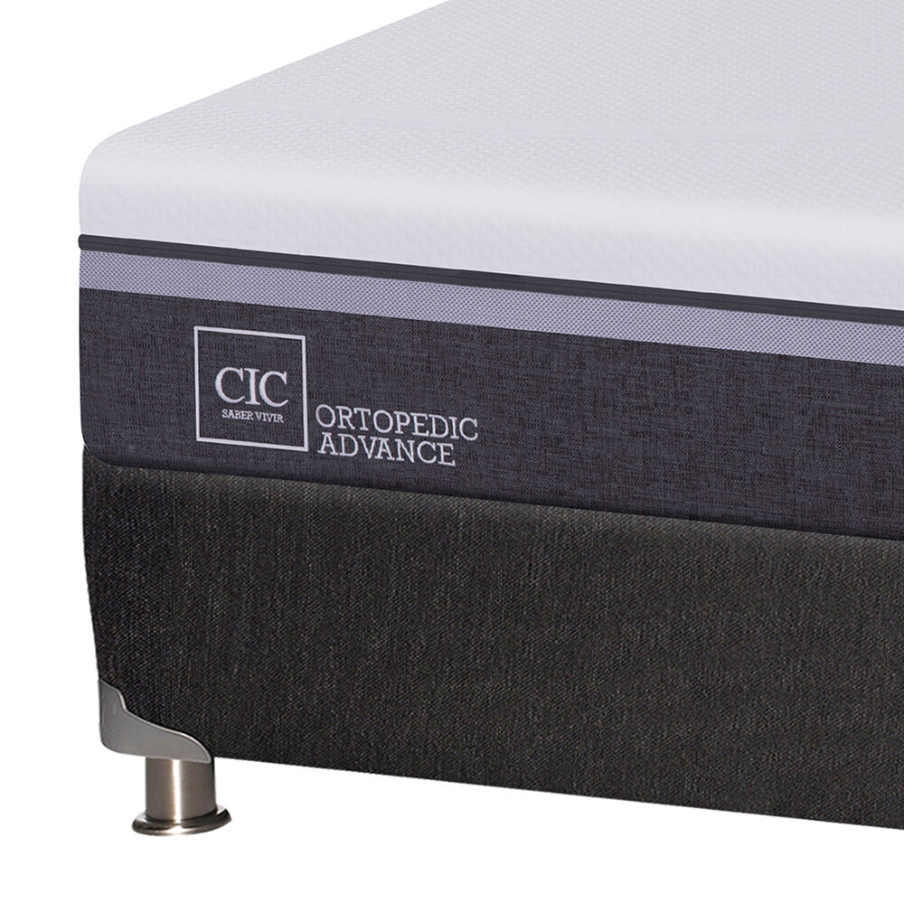 Box Spring Cic Ortopedic Advance / 2 Plazas / Base Normal + Textil image number 2.0