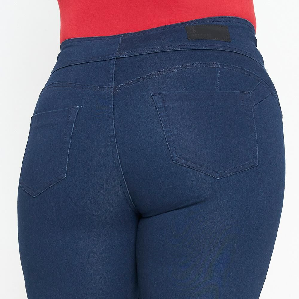 Jeans Mujer Tiro Alto Recto Push up Sexy large image number 4.0