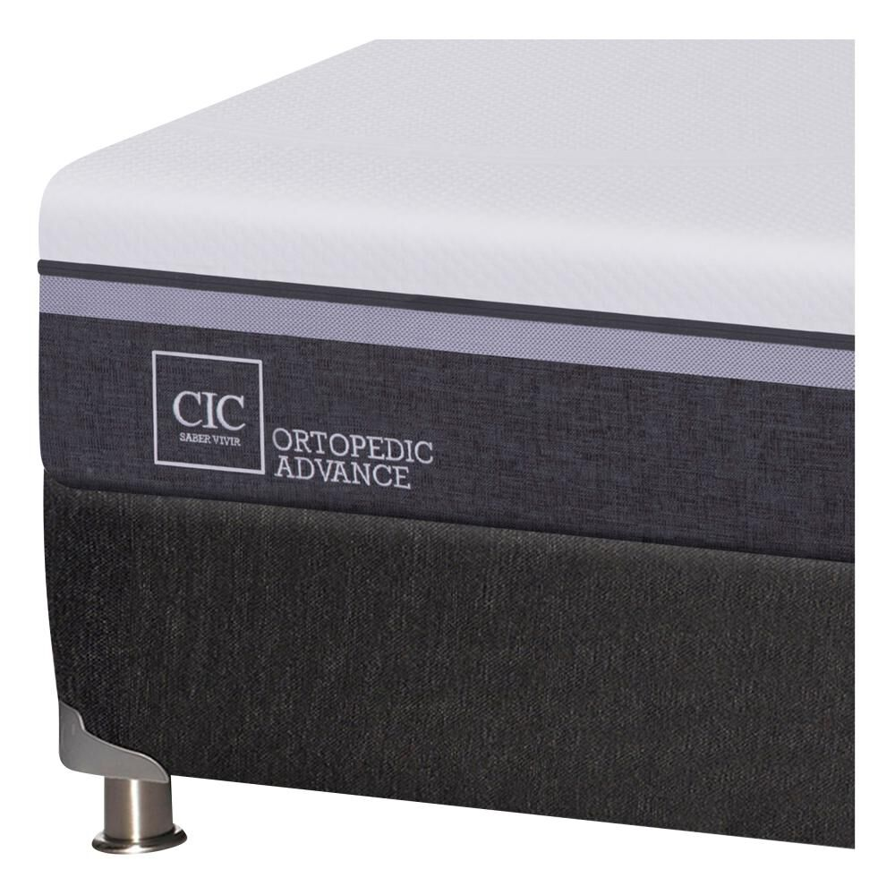 Box Spring Cic Ortopedic / King / Base Dividida  + Set De Maderas image number 4.0