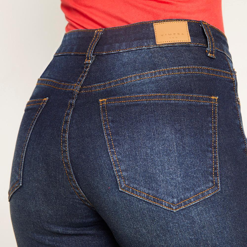Jeans Flare Tiro Alto Flare 4 Botones Mujer Kimera image number 4.0