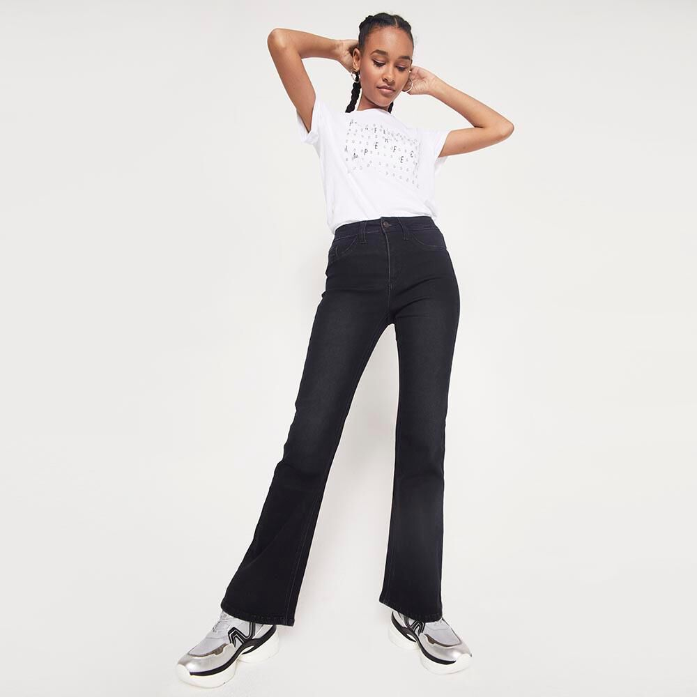 Jeans Mujer Tiro Alto Flare Rolly go image number 5.0