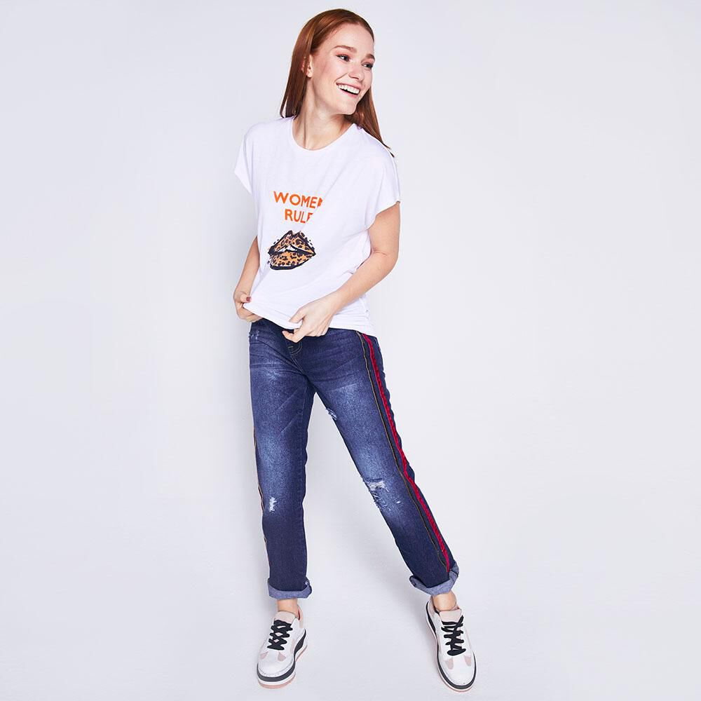 Jeans Mom Lineas Laterales Mujer Freedom image number 1.0