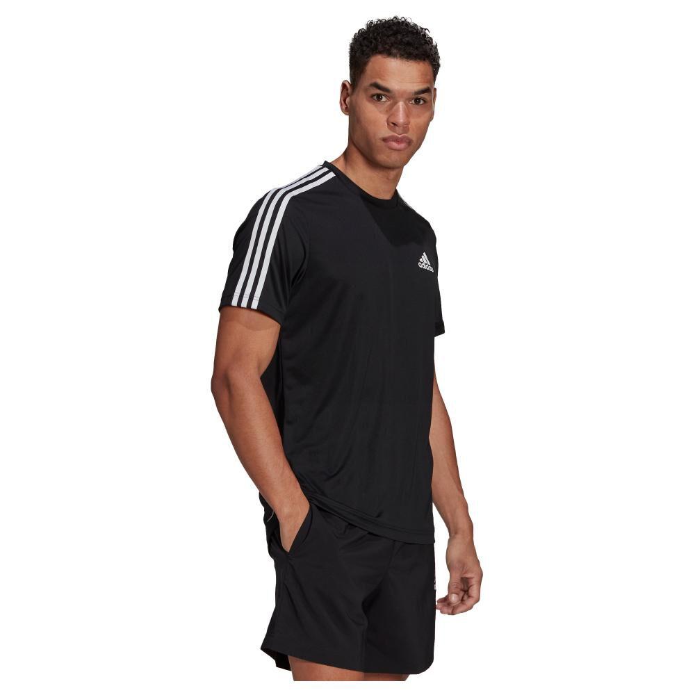 Polera Hombre Adidas D2m 3 Stripes image number 1.0