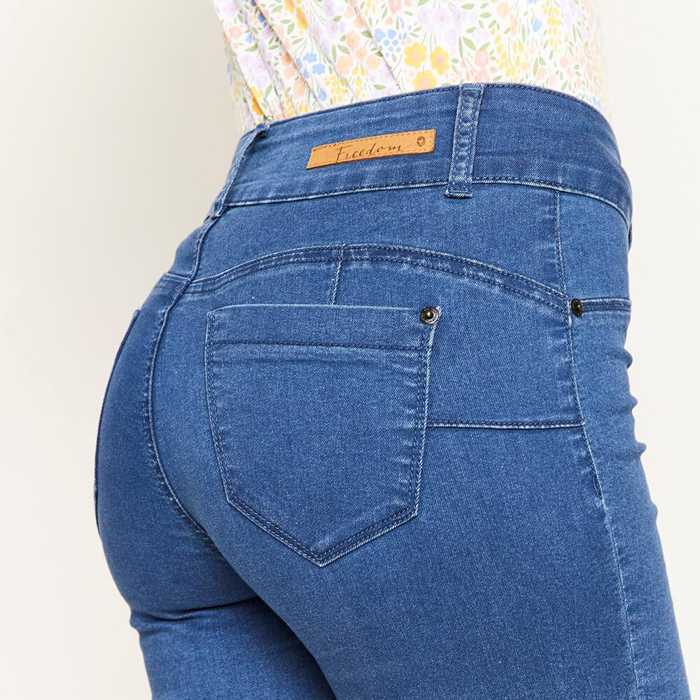 Jeans Tiro Alto Push Up Mujer Freedom image number 4.0