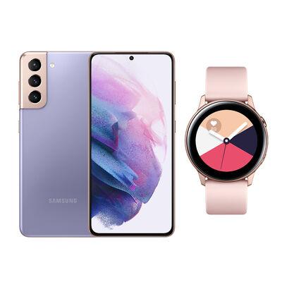 Smartphone Samsung S21 Phantom Violet + Galaxy A21S