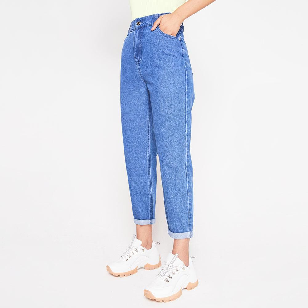 Jeans Tiro Alto Slouchy Mujer Rolly Go image number 0.0