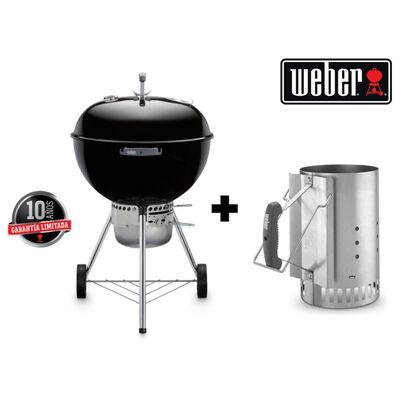 """Parrilla A Carbón Weber Kettle Premium 22"""" + Rapidfire"""