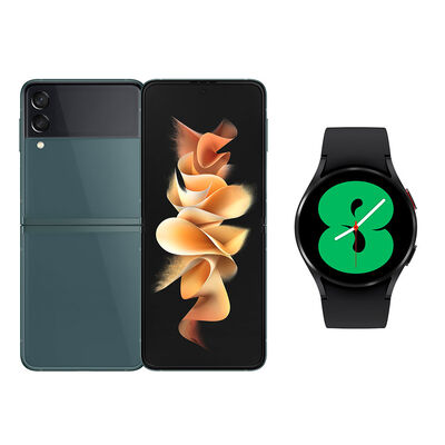Smartphone Samsung Galaxy Z Flip 3 128 GB Verde + Smartwatch Galaxy Watch4 40 mm