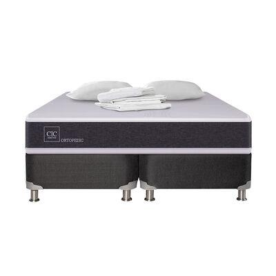 Box Spring Cic Ortopedic B5 / King / Base Dividida + Textil