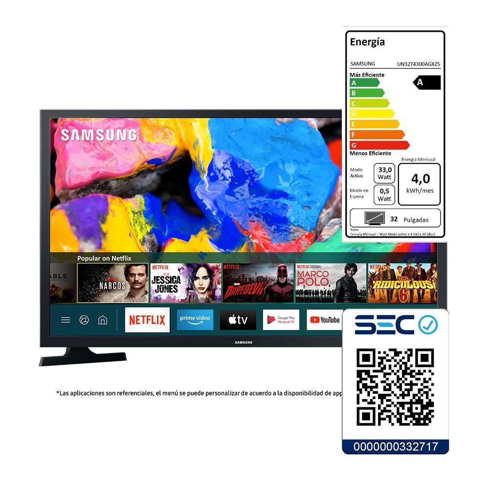 """Led Samsung T4300 / 32"""" / HD / Smart Tv 2020 image number 5.0"""