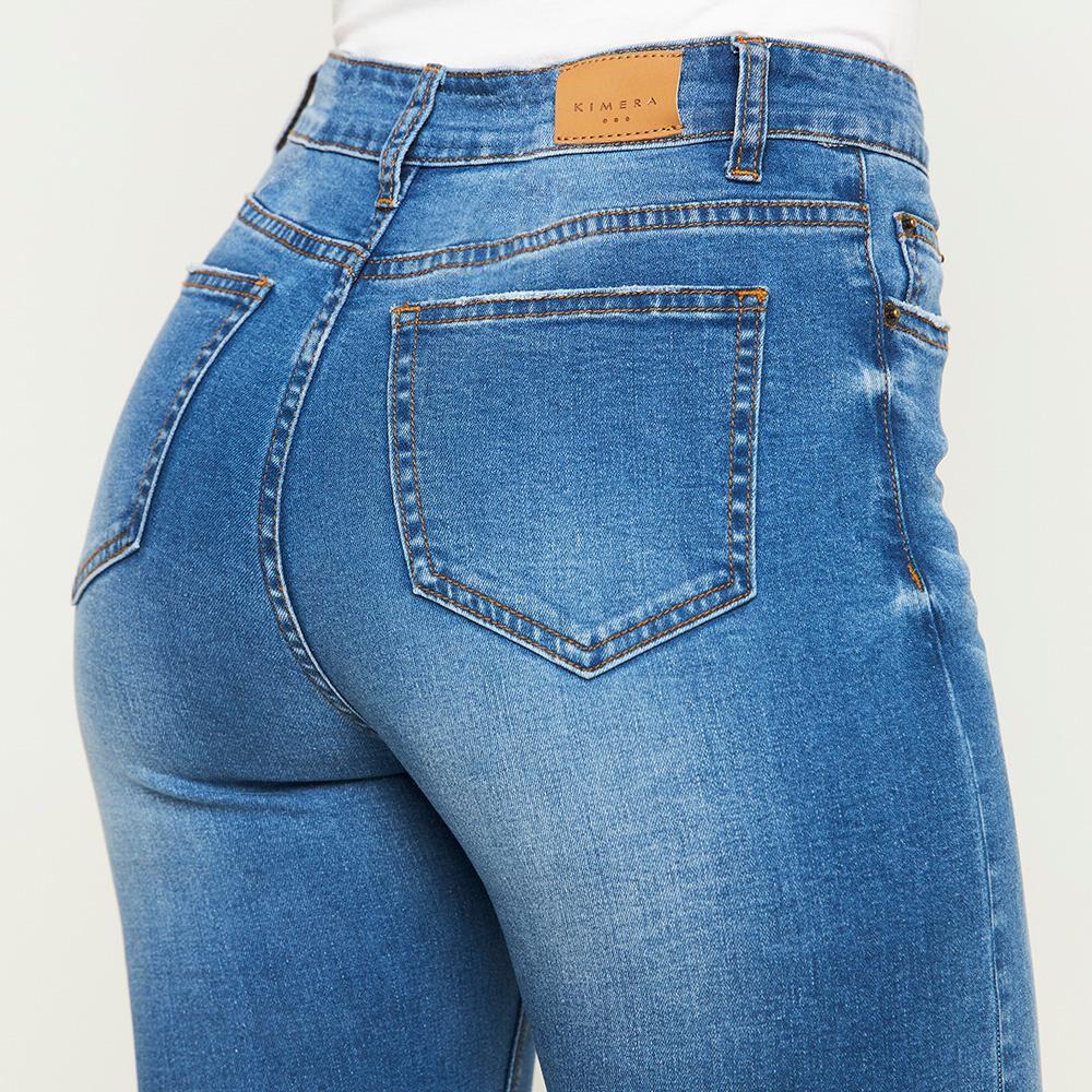 Jeans Lavado Tiro Medio Skinny Mujer Kimera image number 3.0