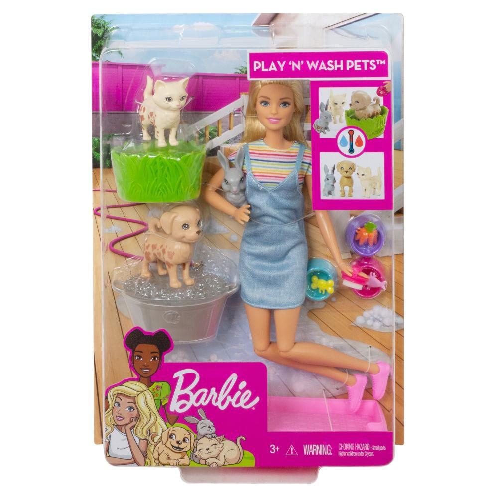Muñeca Barbie Baño De Perritos image number 4.0