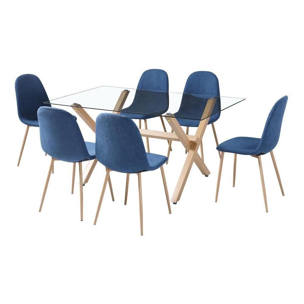 Mesa De Comedor Casaideal Catar 6 Personas