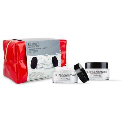Set De Tratamiento Etienne Crema Retinol Advance Día 50gr + Crema Retinol Advance Noche 50gr + Cosmetiquero