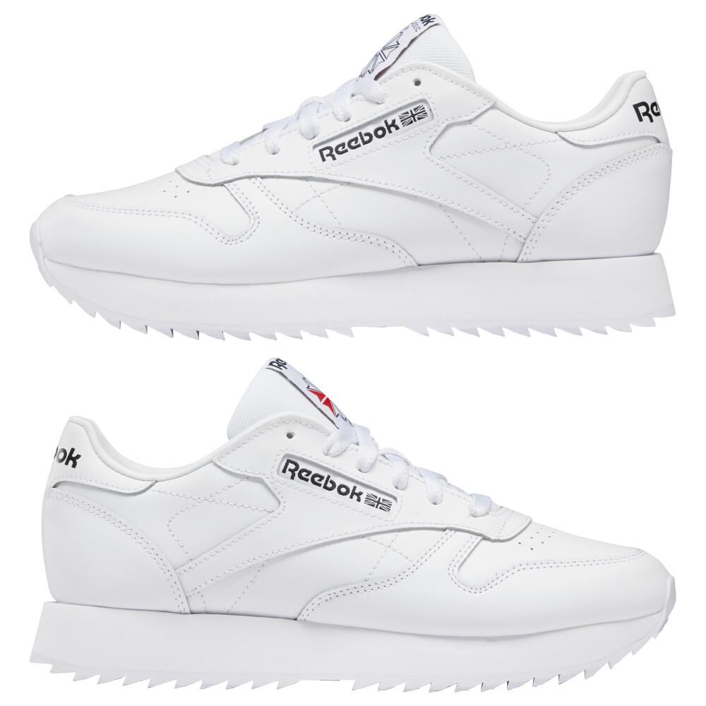 Zapatilla Running Mujer Reebok Classic Leather Ripple image number 5.0