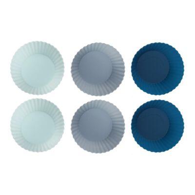Set Moldes Set Moldes Silicona Cupcackes Kitchenware Marble Marble / 6 Piezas