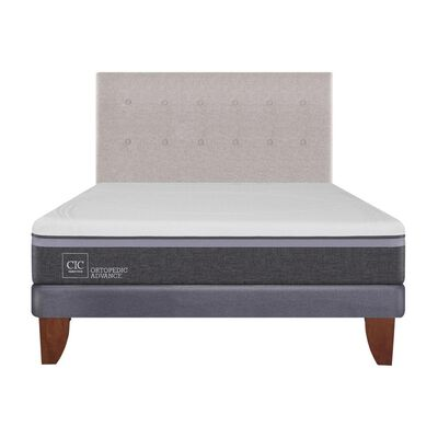 Cama Europea Cic Ortopedic Advance / 2 Plazas / Base Normal  + Respaldo
