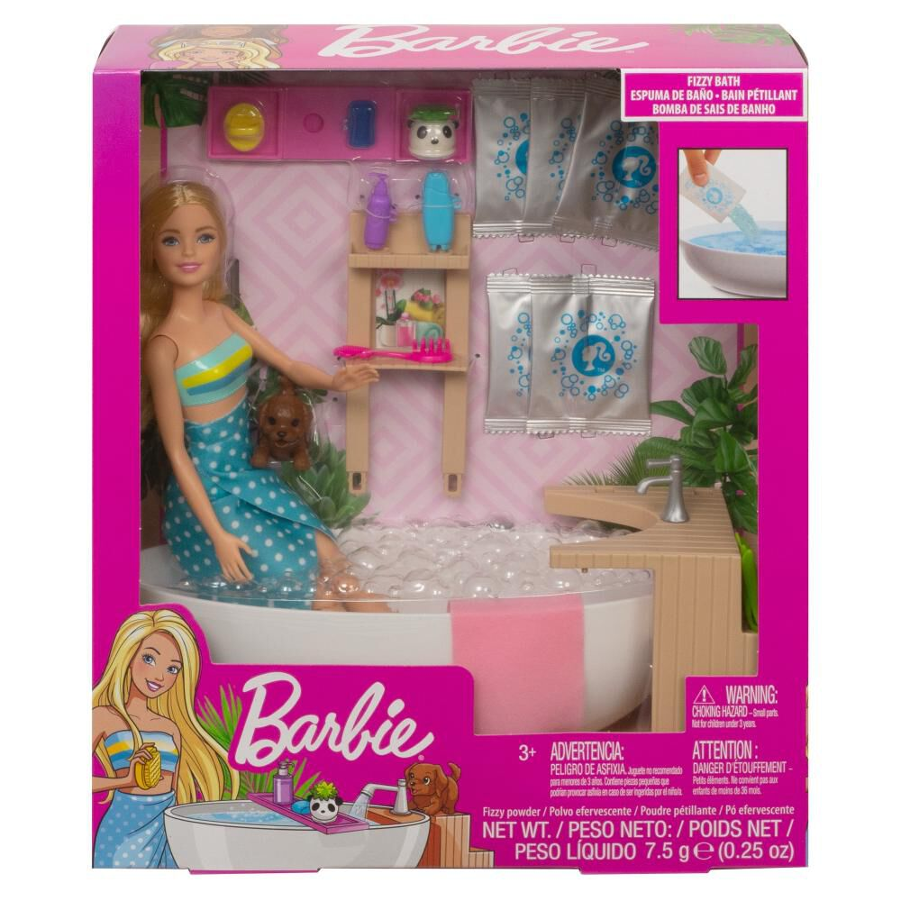 Muñeca Barbie Baño De Espuma image number 4.0