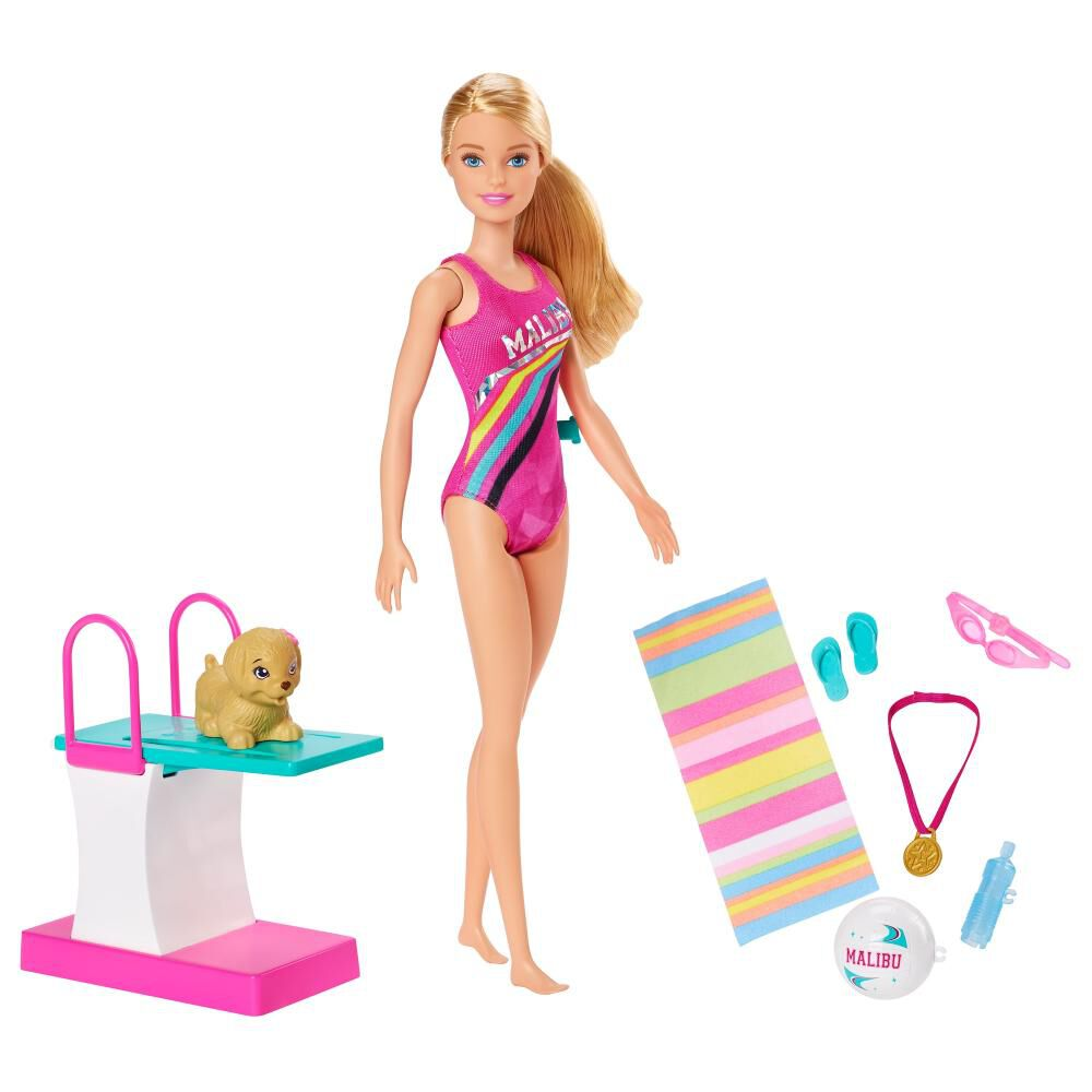 Barbie Dreamhouse Adventures Muñeca Nadadora Con Accesorios image number 0.0