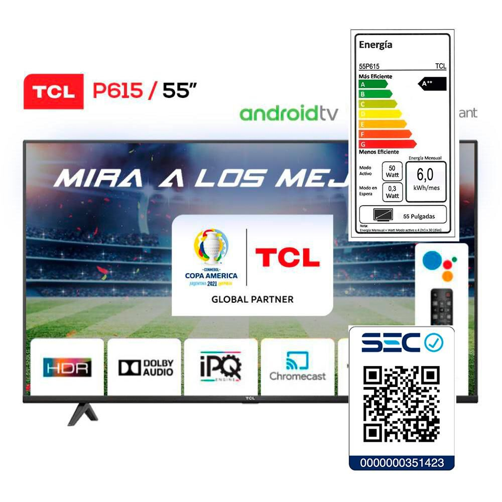Led TCL 55P615 / 55'' / Ultra Hd / 4k / Android Tv image number 6.0