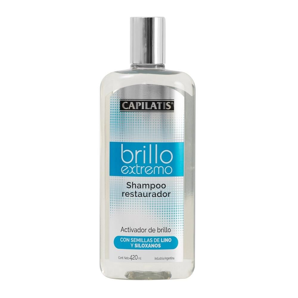 Shampoo Restaurador Brillo Extremo 420 Ml Capilatis image number 0.0