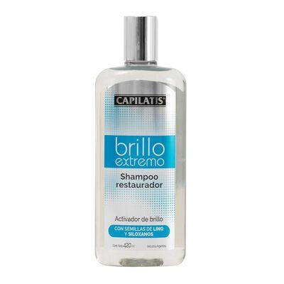 Shampoo Restaurador Brillo Extremo 420 Ml Capilatis